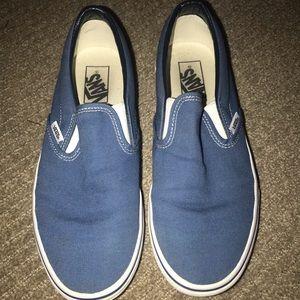 Blue slip on Vans
